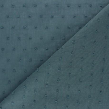Tissu voile de coton Plumetis Bianca - bleu marine x 10cm