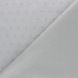 Tissu voile de coton Plumetis Bianca - gris x 10cm