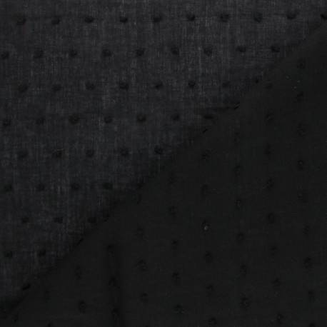 Plumetis Cotton voile Fabric - Grey Bianca x 10cm