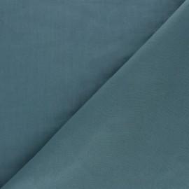 Tissu voile de coton uni Bianca - bleu pétrole x 10cm