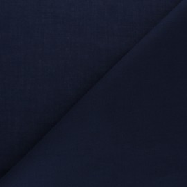 Tissu voile de coton uni Bianca - bleu marine x 10cm