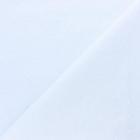 Tissu voile de coton Plumetis Bianca - blanc x 10cm