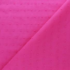Tissu voile de coton Plumetis Bianca - Fuschia x 10cm