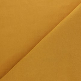 Tissu voile de coton uni Bianca - jaune moutarde x 10cm