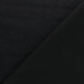 Tissu voile de coton uni Bianca - noir x 10cm