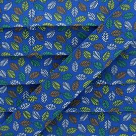 25 mm Cotton Bias Binding - Blue Autumn Leaf x 1m