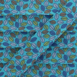 25 mm Cotton Bias Binding - Turquoise Autumn Leaf x 1m