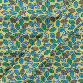 Biais Coton Feuille d'Automne 25 mm - Jaune x 1m