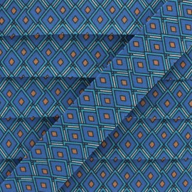 25 mm Cotton Bias Binding - Blue Diamond x 1m