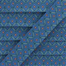 Biais Coton Losange 25 mm - Bleu x 1m