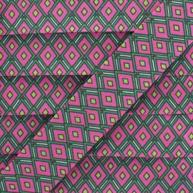 Biais Coton Vitraux 25 mm - Fuchsia x 1m