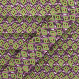 25 mm Cotton Bias Binding - Green Diamond x 1m
