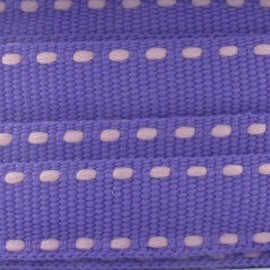 Grosgrain aspect mauve stitched-edge ribbon - purple
