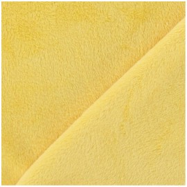 Soft short minkee velvet Fabric - yellow x 10cm