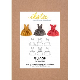 Apron Dress Sewing Pattern - Ikatee Milano