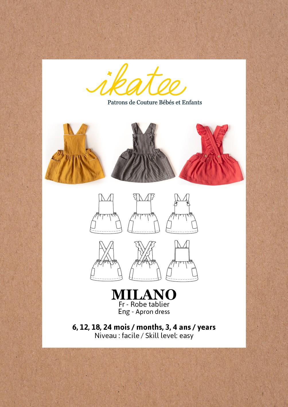 Apron Dress Sewing Pattern Ikatee Milano