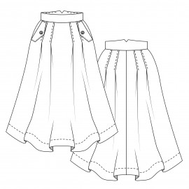 Skirt Sewing Pattern - Lot of Things Pâquerette
