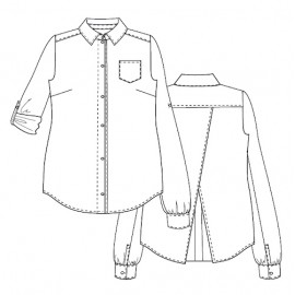 Shirt Sewing Pattern - Lot of Things Elisabeth