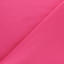 Tissu voile de coton uni Bianca - rose Fuchsia x 10cm