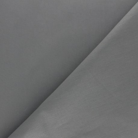 Extra wide cotton fabric (280 cm) - Steel grey x 10cm
