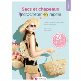 """Book """"Sacs et chapeaux à crocheter en raphia"""""""