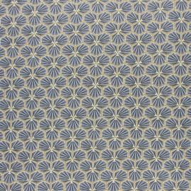 Tissu coton cretonne enduit Riad - noir x 10cm