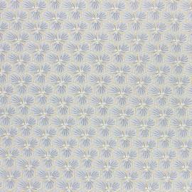 Tissu coton cretonne enduit Riad - gris clair x 10cm