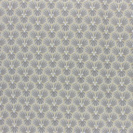 Coated cretonne cotton fabric - slate grey Riad x 10cm
