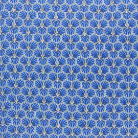Tissu coton cretonne enduit Riad - ardoise x 10cm
