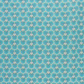 Tissu coton cretonne enduit Riad - bleu ciel x 10cm