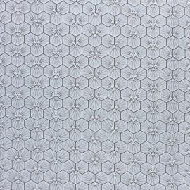 Tissu coton cretonne enduit Riad - argent x 10cm