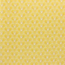 Coated cretonne cotton fabric - Gold Riad x 10cm