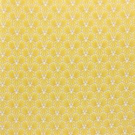 Tissu coton cretonne enduit Riad - doré x 10cm