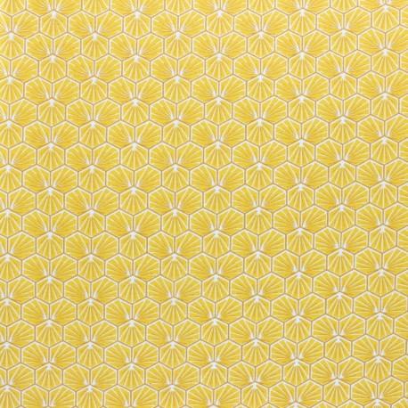 Coated cretonne cotton fabric - Gold Riad x 10cm