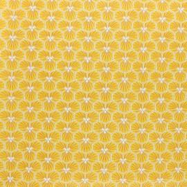 Tissu coton cretonne enduit Riad - jaune x 10cm