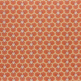 Tissu coton cretonne enduit Riad - jaune safran x 10cm