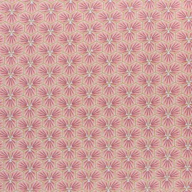 Coated cretonne cotton fabric - Burgundy Riad x 10cm
