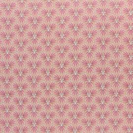 Tissu coton cretonne enduit Riad - Bordeaux x 10cm