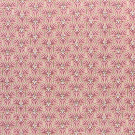 Coated cretonne cotton fabric - Burgundy Riad x 10cm