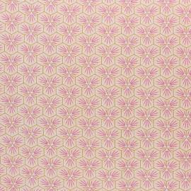 Tissu coton cretonne enduit Riad - Rose corail x 10cm
