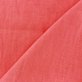 Washed Linen (135cm) Fabric - coral Pink x 10cm