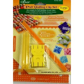 Puff quilting clip set 6 cm - yellow