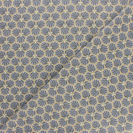 Cretonne cotton fabric - slate grey Riad x 10cm