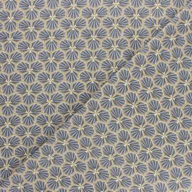 Tissu coton cretonne Riad - noir x 10cm