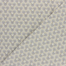 Cretonne cotton fabric - light grey Riad x 10cm