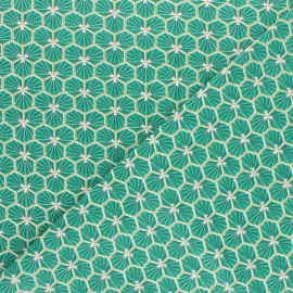 Cretonne cotton fabric - Green Riad x 10cm