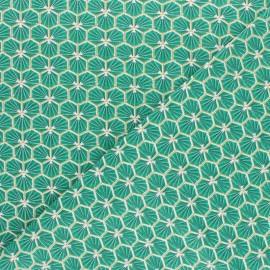 Tissu coton cretonne Riad - vert x 10cm