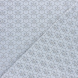 Cretonne cotton fabric - Green Riad x 10cm