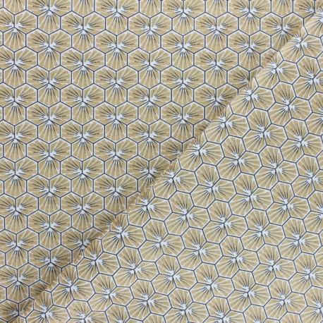 Tissu coton cretonne Riad - argent x 10cm