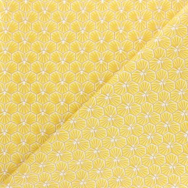 Cretonne cotton fabric - gold Riad x 10cm